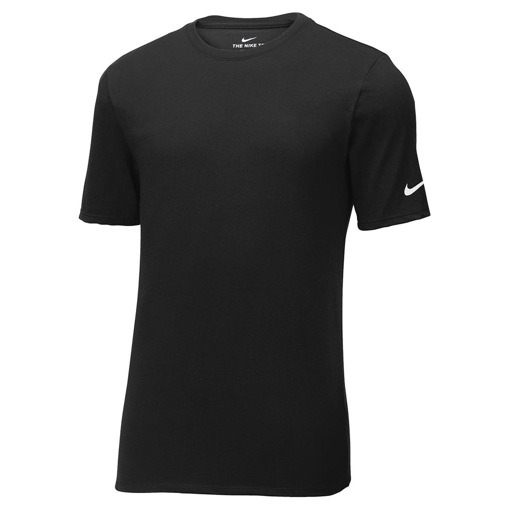 chocolate Reposición Derecho  Nike Men's Black Core Cotton Tee