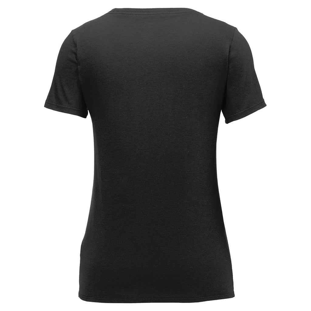 Nike Women's Black Core Cotton Scoop Neck Tee
