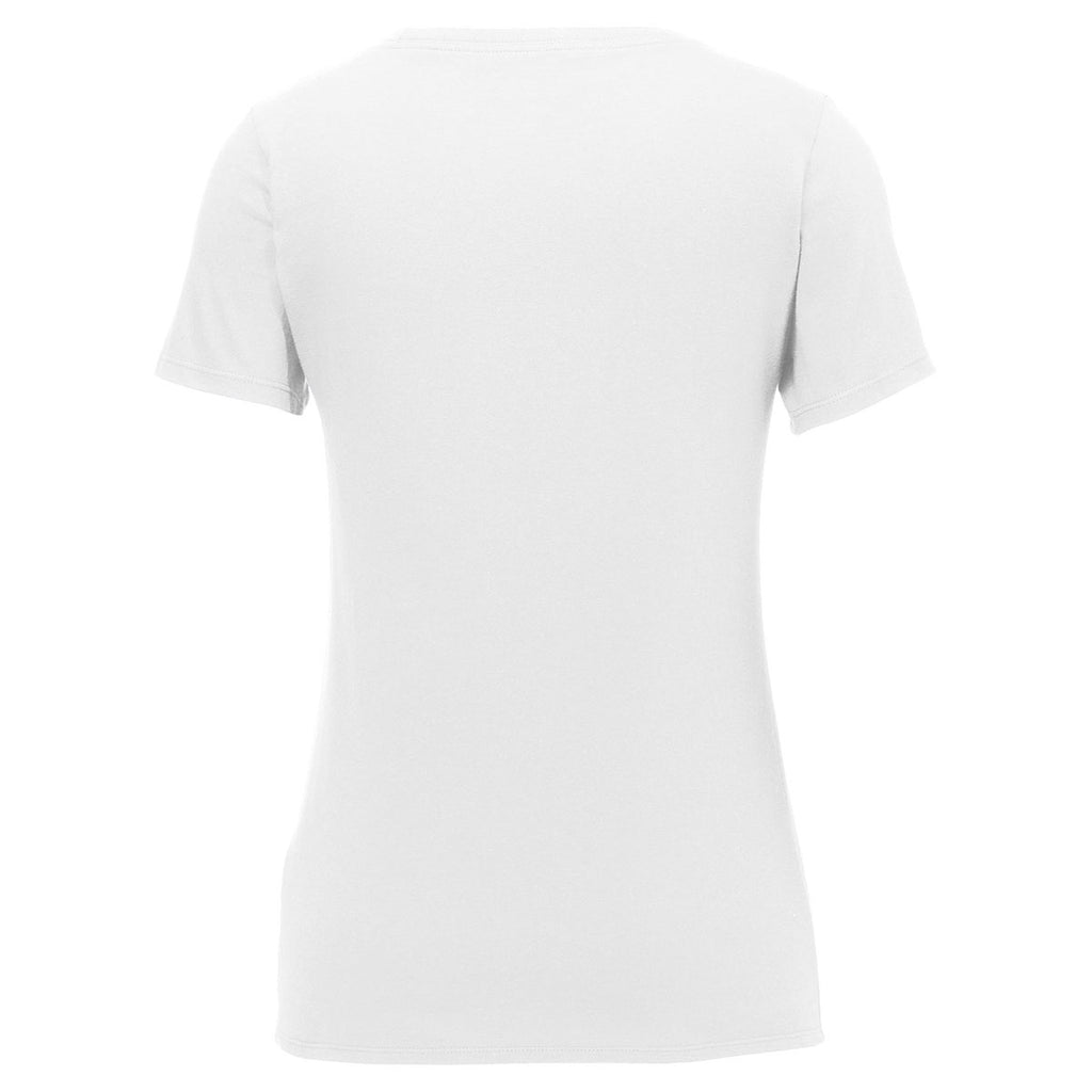 Nike Women's White Core Cotton Scoop Neck Tee