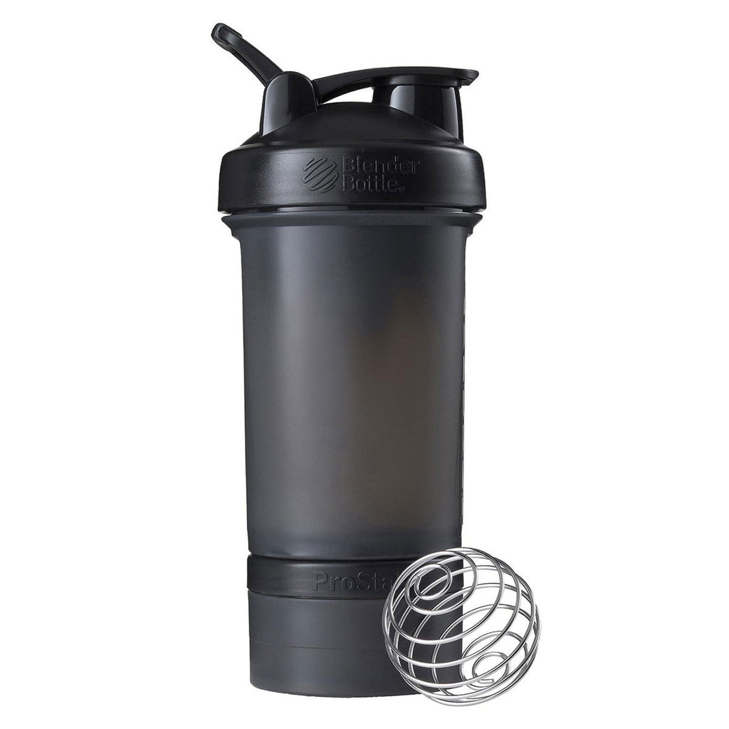 BlenderBottle Black Prostak Bottle 22oz