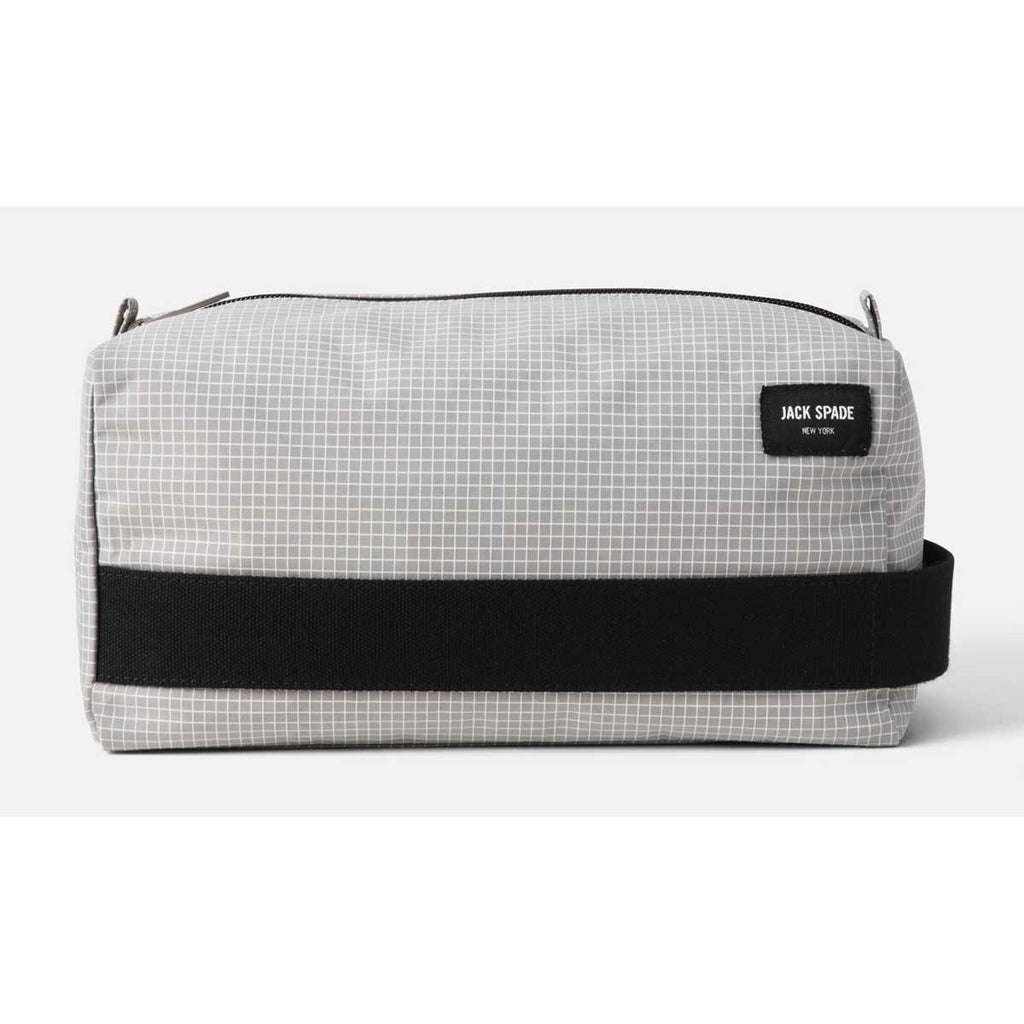 ef7f743ee7 Jack Spade Men s Grey Packable Graph Check Toiletry Kit