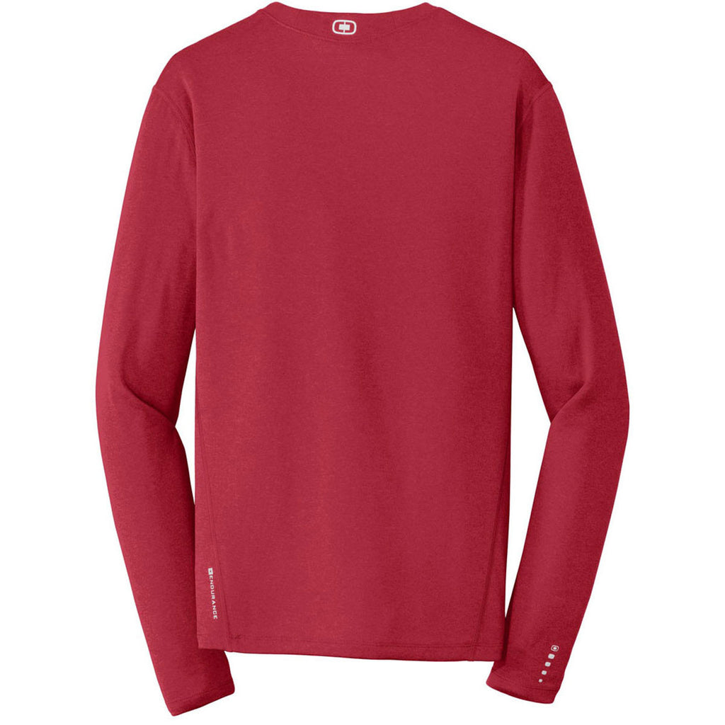 OGIO Endurance Men's Ripped Red Long Sleeve Pulse Crew