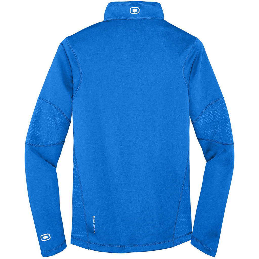 OGIO Men's Electric Blue Endurance Fulcrum Quarter-Zip