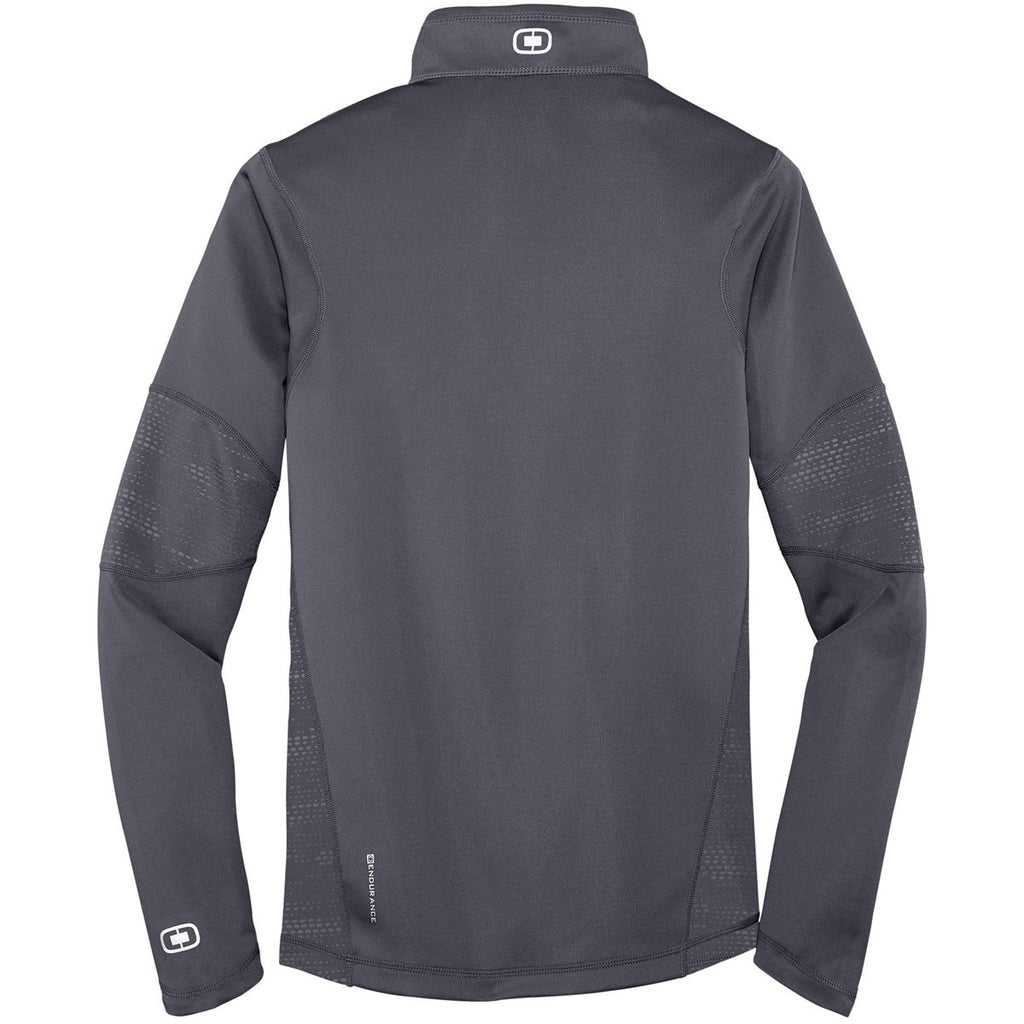 OGIO Men's Gear Grey Endurance Fulcrum Quarter-Zip