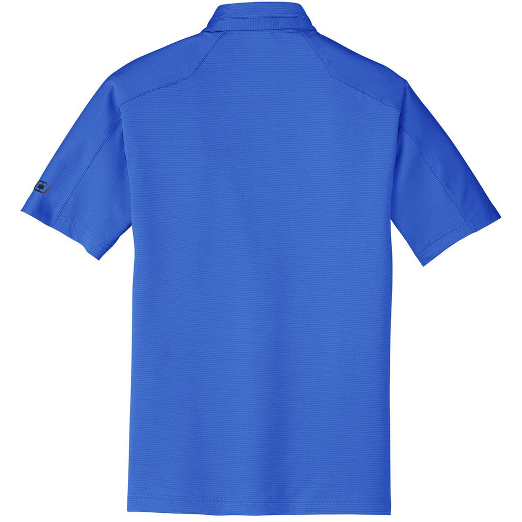 OGIO Men's Electric Blue Linear Polo