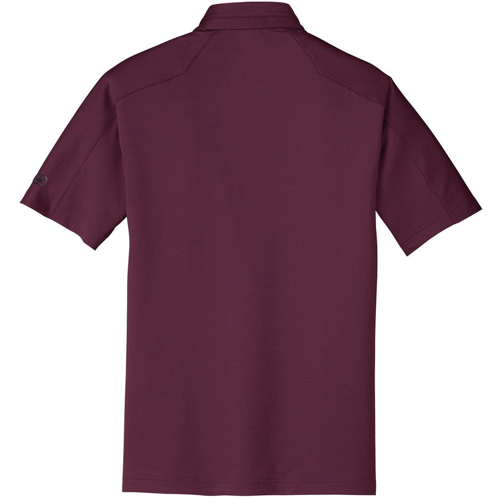 OGIO Men's Molten Maroon Linear Polo