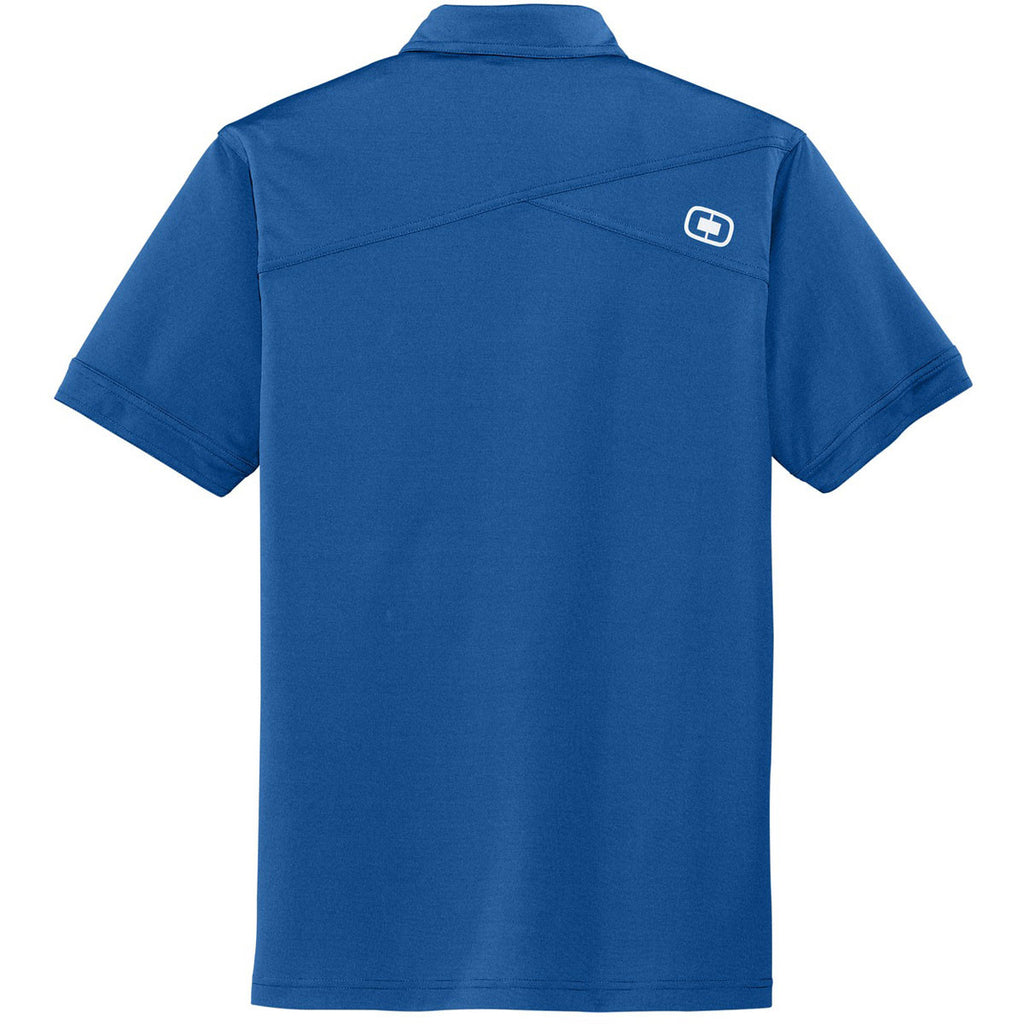 OGIO Men's Blue Steel Leveler Polo