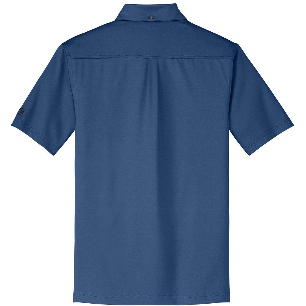 OGIO Men's Blue Indigo Gauge Polo