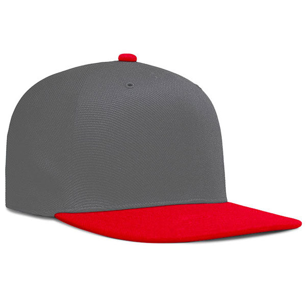 Pacific Headwear Charcoal/Red OneTouch High-Profile Flat Bill Cap