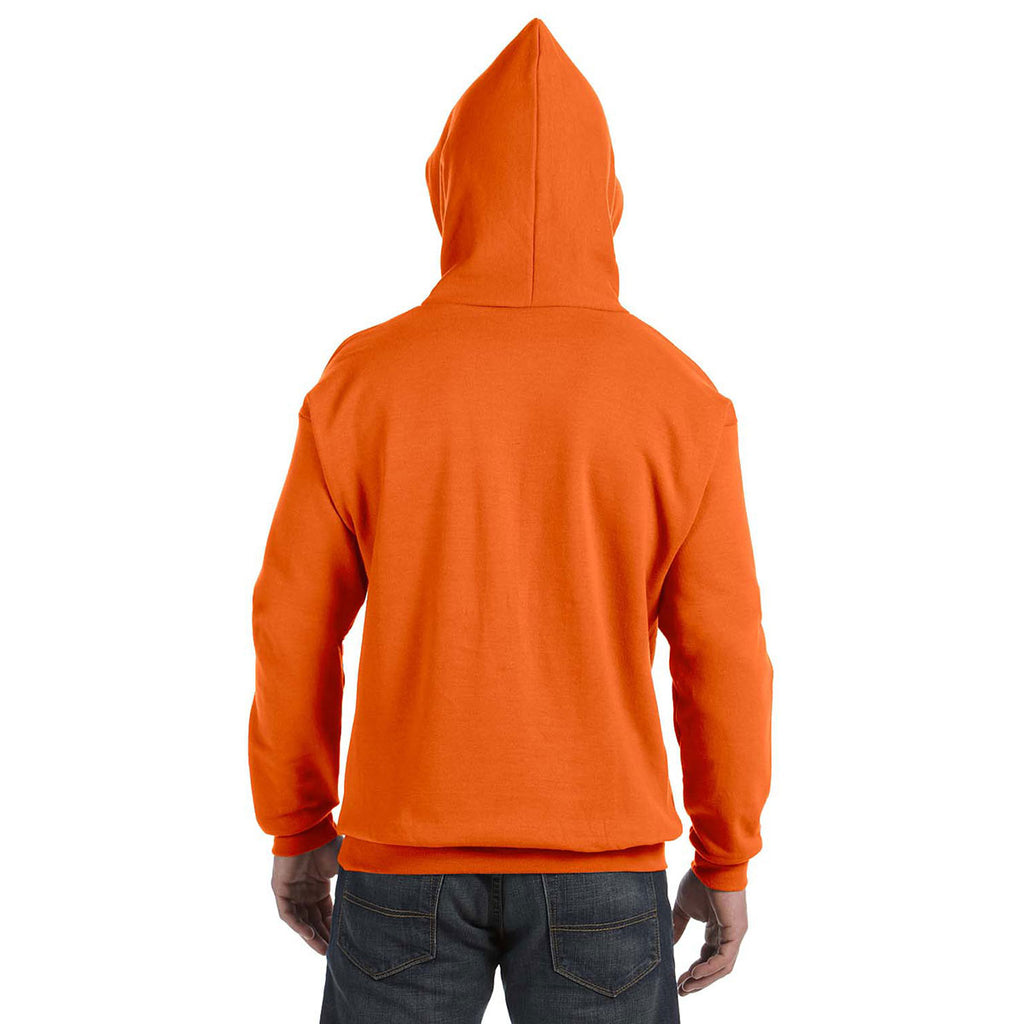 1 Orange Hanes Mens EcoSmart Hooded Sweatshirt Small 1 Cardinal