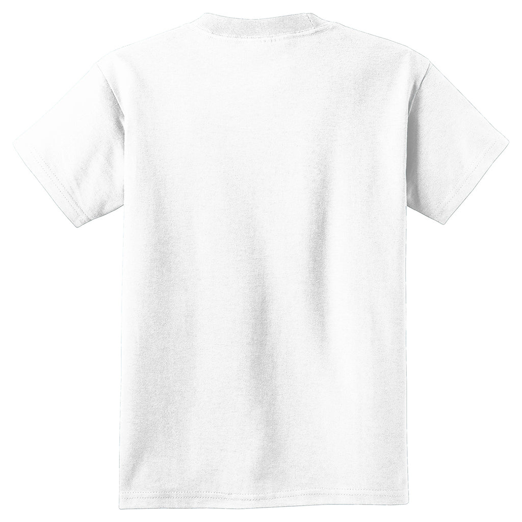 Port & Company Youth White Pigment-Dyed Tee