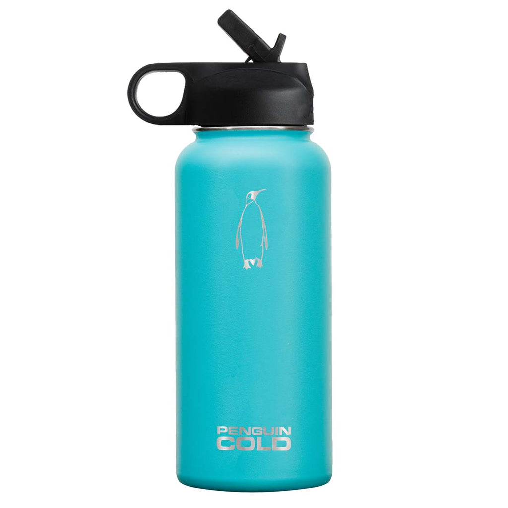 Penguin Cold Teal 32 oz Bottle with Straw Lid