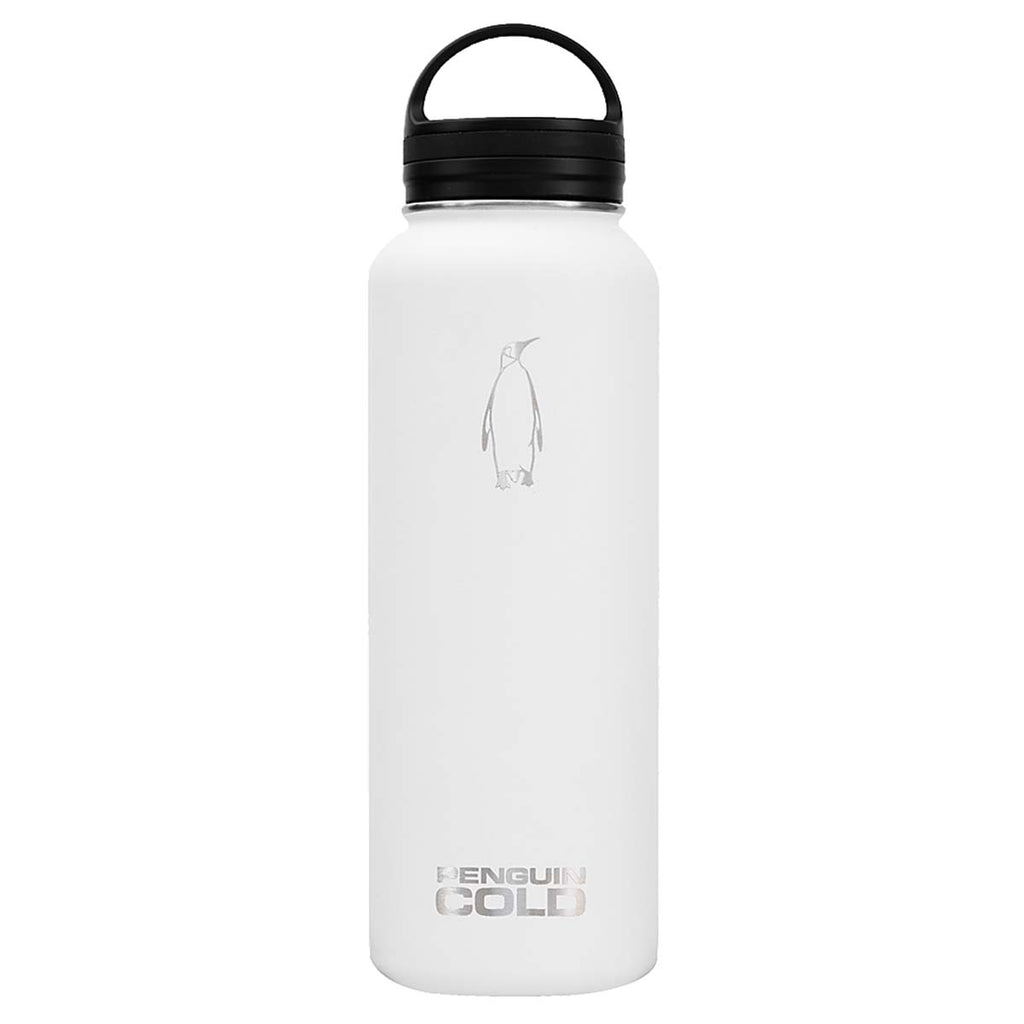 Penguin Cold White 40 oz Bottle with Loop Handle Lid