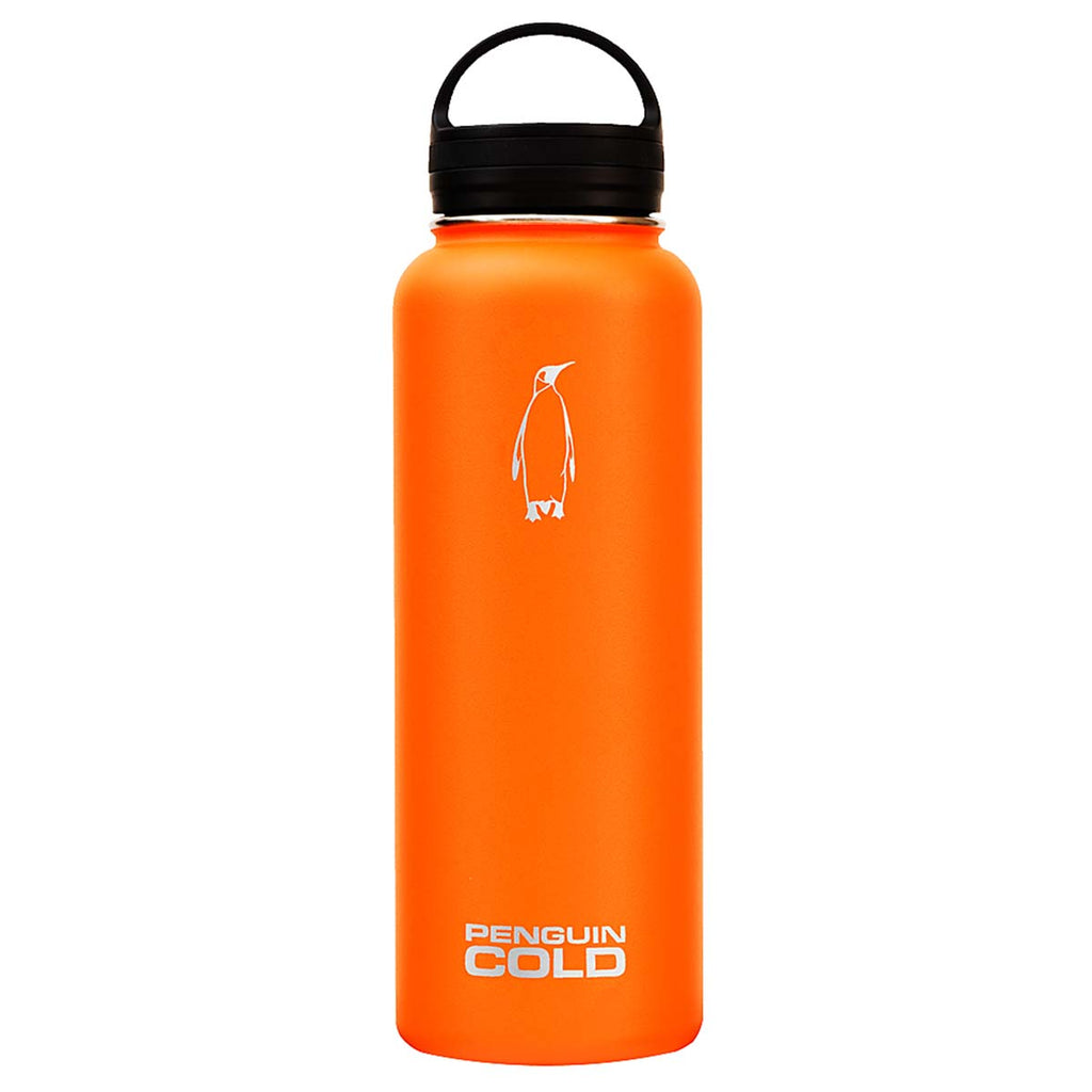 Penguin Cold Orange 40 oz Bottle with Loop Handle Lid
