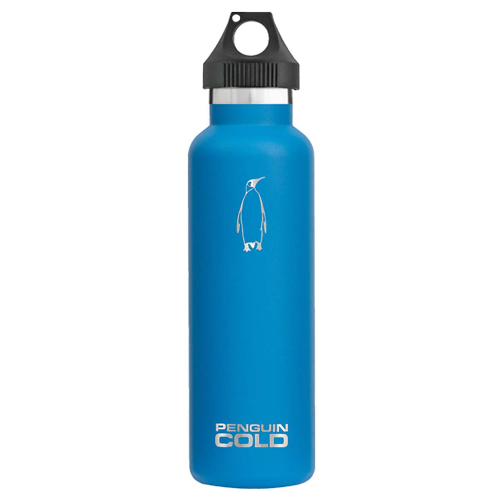 Penguin Cold Blue 21 oz Bottle with Handle Lid