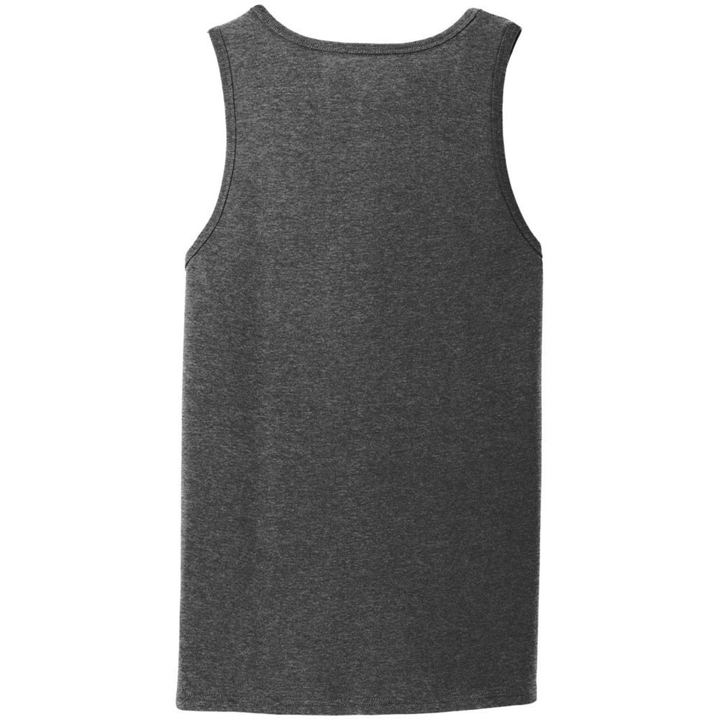 Port & Company Men's Dark Heather Grey Core Cotton Tank Top