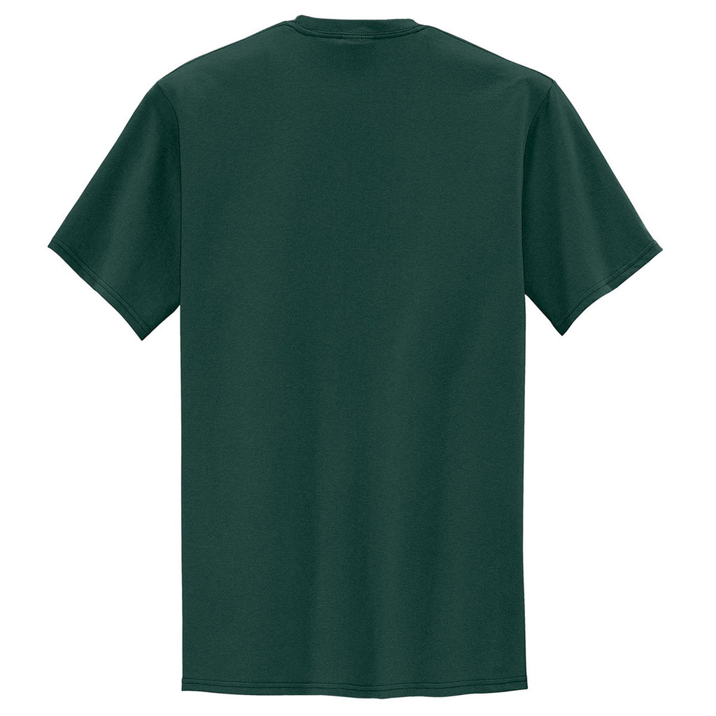 Port & Company Men's Dark Green Tall Core Blend Pocket Tee