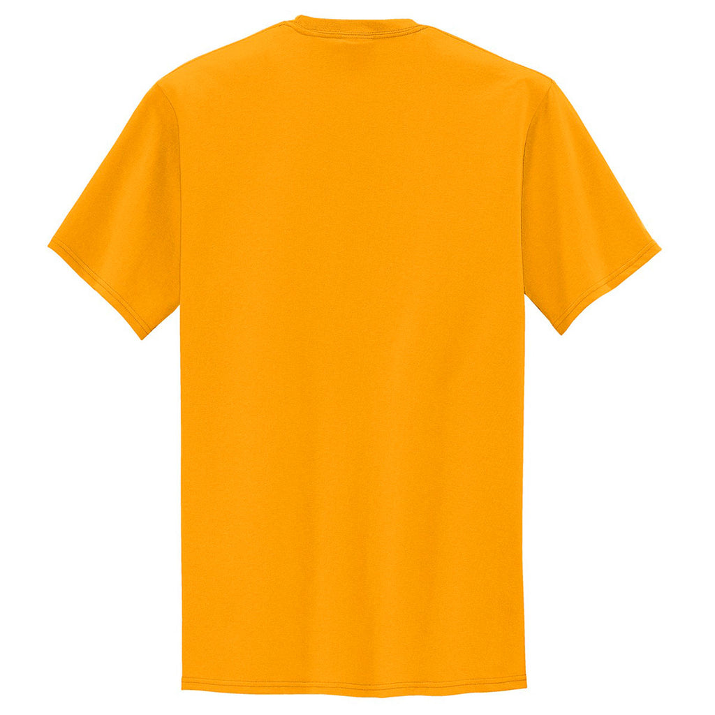 Port & Company Men's Gold Tall Core Blend Pocket Tee