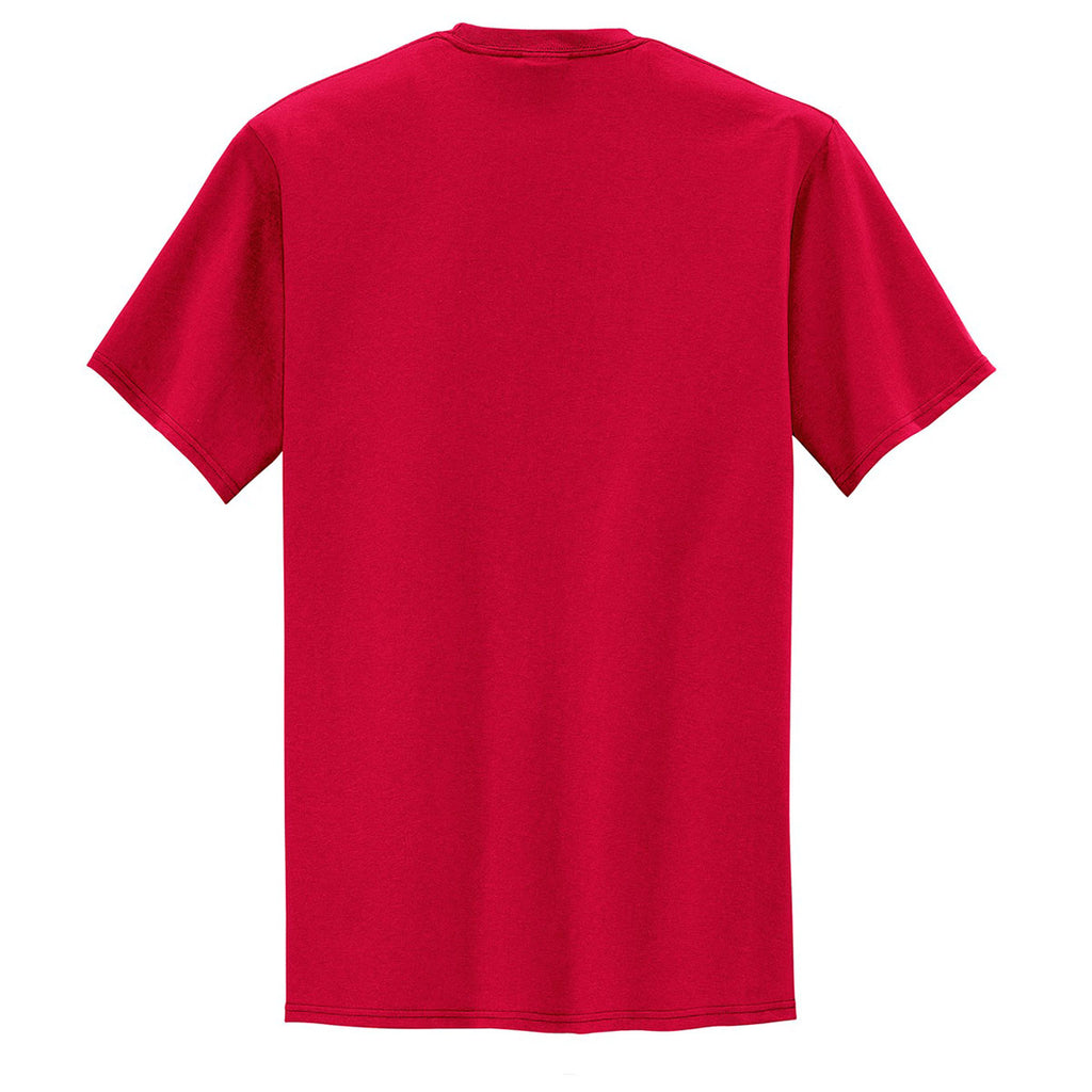 Port & Company Men's Red Tall Core Blend Pocket Tee