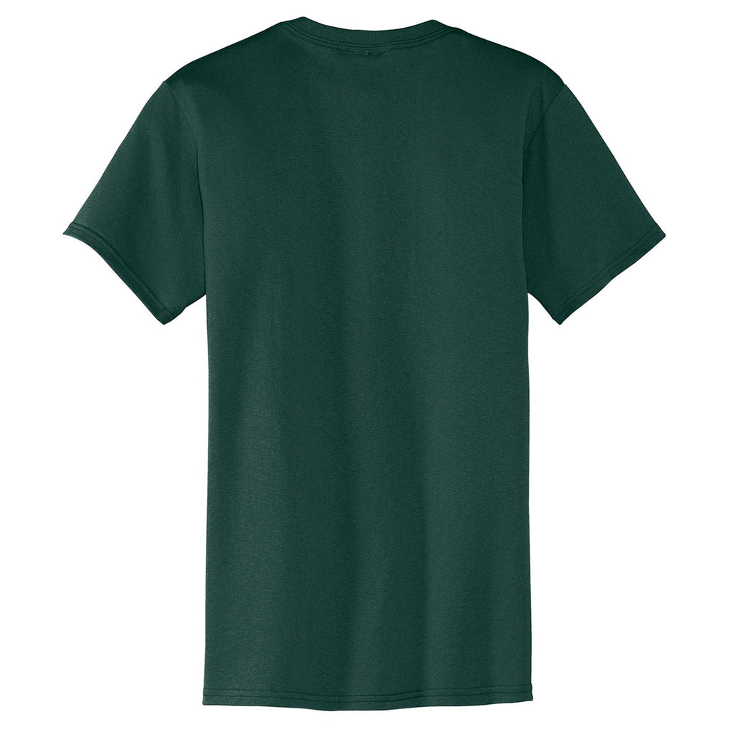 Port & Company Men's Dark Green Core Blend Pocket Tee