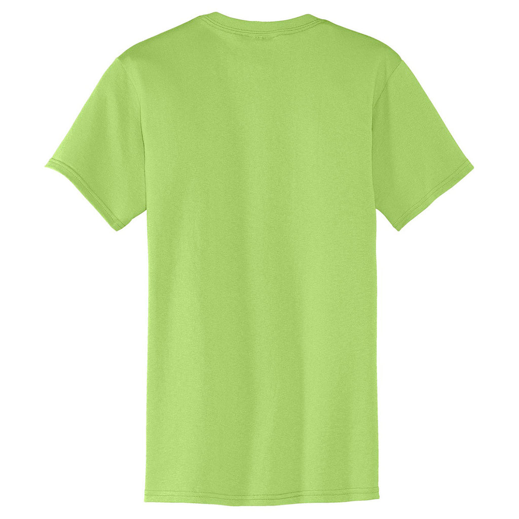 Port & Company Men's Lime Core Blend Pocket Tee