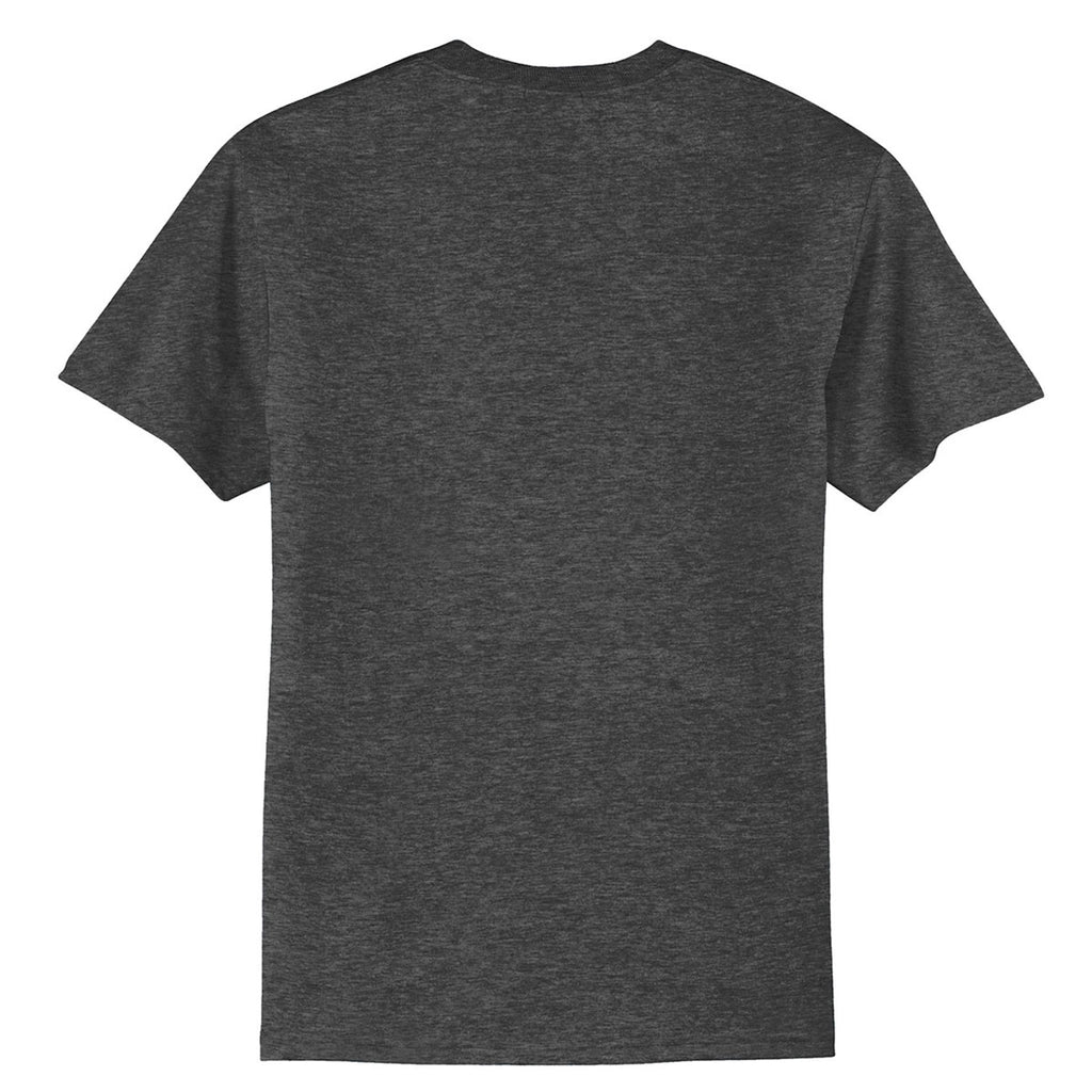 Port & Company Men's Dark Heather Grey Tall Core Blend Tee