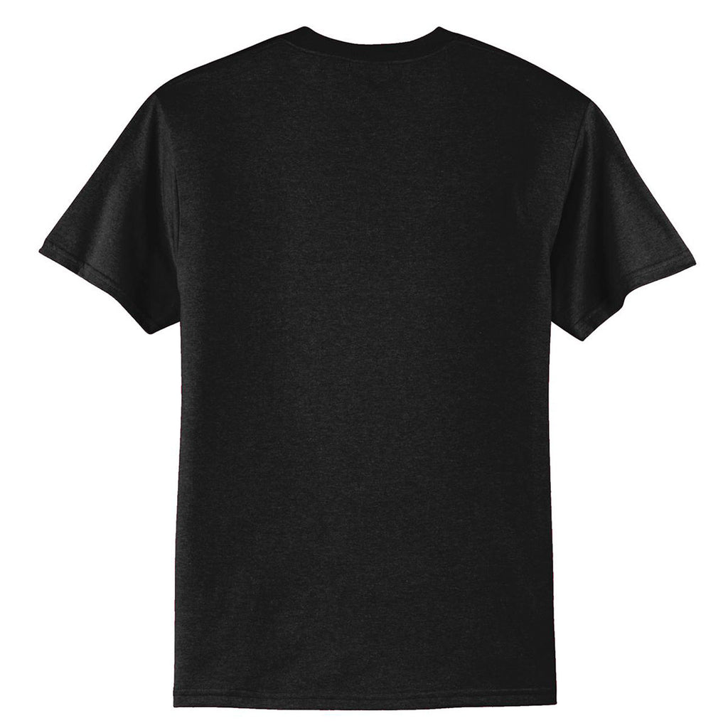 Port & Company Men's Jet Black Tall Core Blend Tee