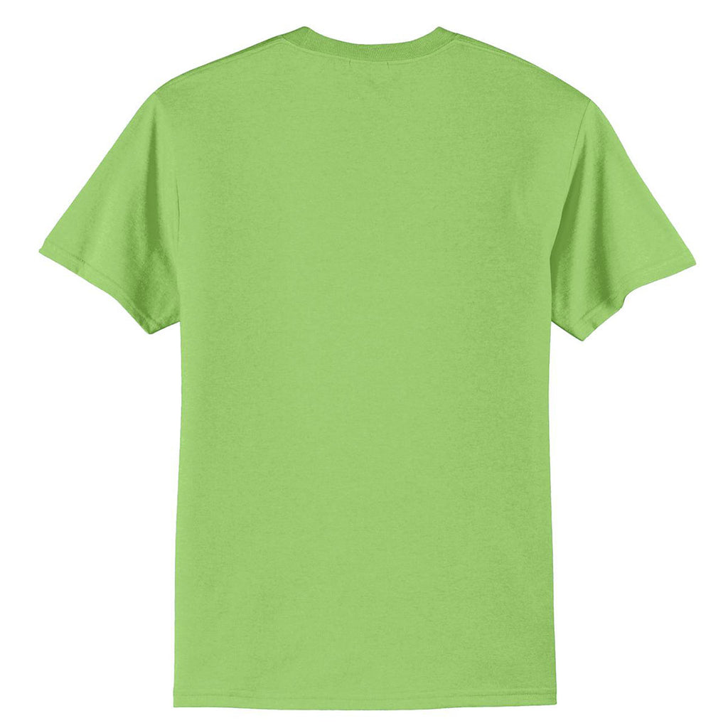 Port & Company Men's Lime Tall Core Blend Tee