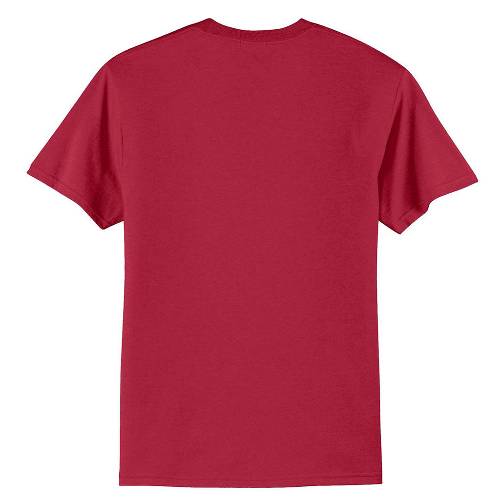 Port & Company Men's Red Tall Core Blend Tee