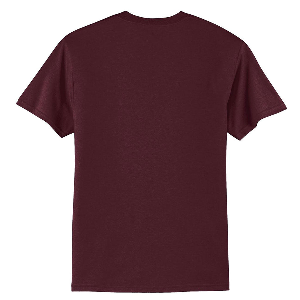 Port & Company Men's Athletic Maroon Core Blend Tee