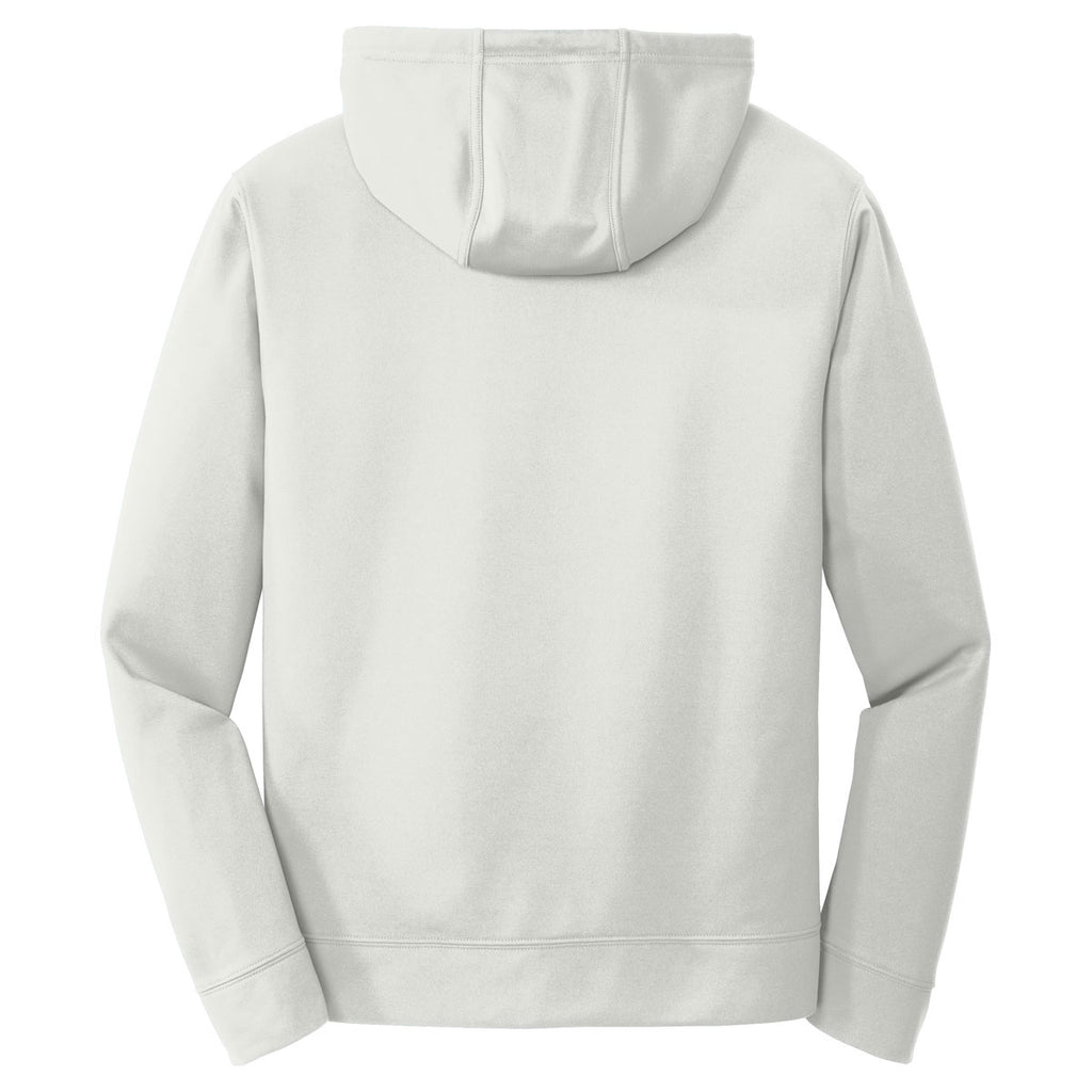 Port & Company Men's Silver Performance Fleece Pullover Hooded Sweatshirt