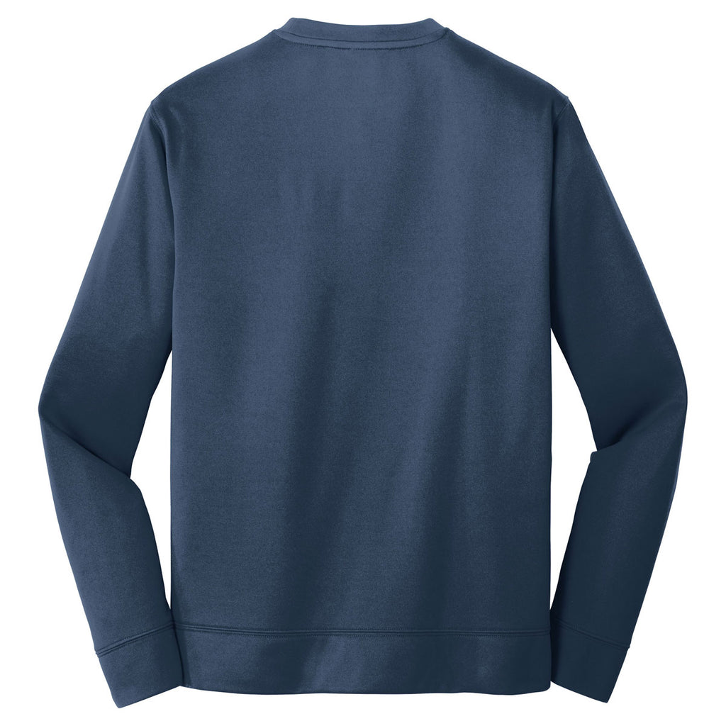 Port & Company Men's Deep Navy Performance Fleece Crewneck Sweatshirt