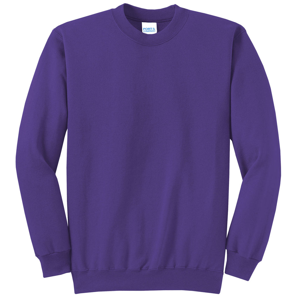 Port /& Company Youth Crewneck Sweatshirt X-Large Purple
