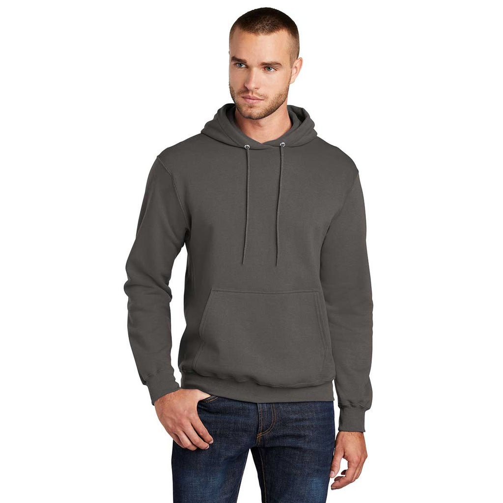 Port & Company Men's Charcoal Tall Core Fleece Pullover Hoodie