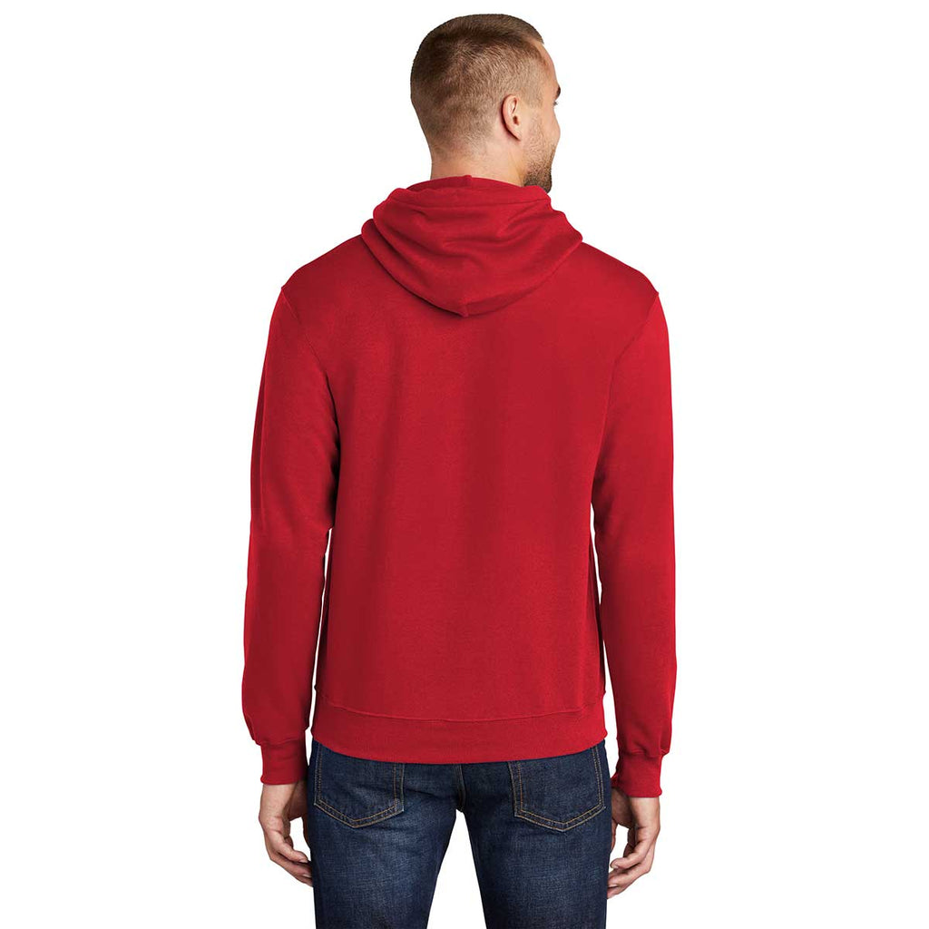 Port & Company Men's Red Tall Core Fleece Pullover Hoodie