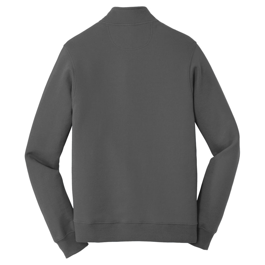 Port & Company Men's Charcoal Fan Favorite Fleece 1/4-Zip Pullover Sweatshirt