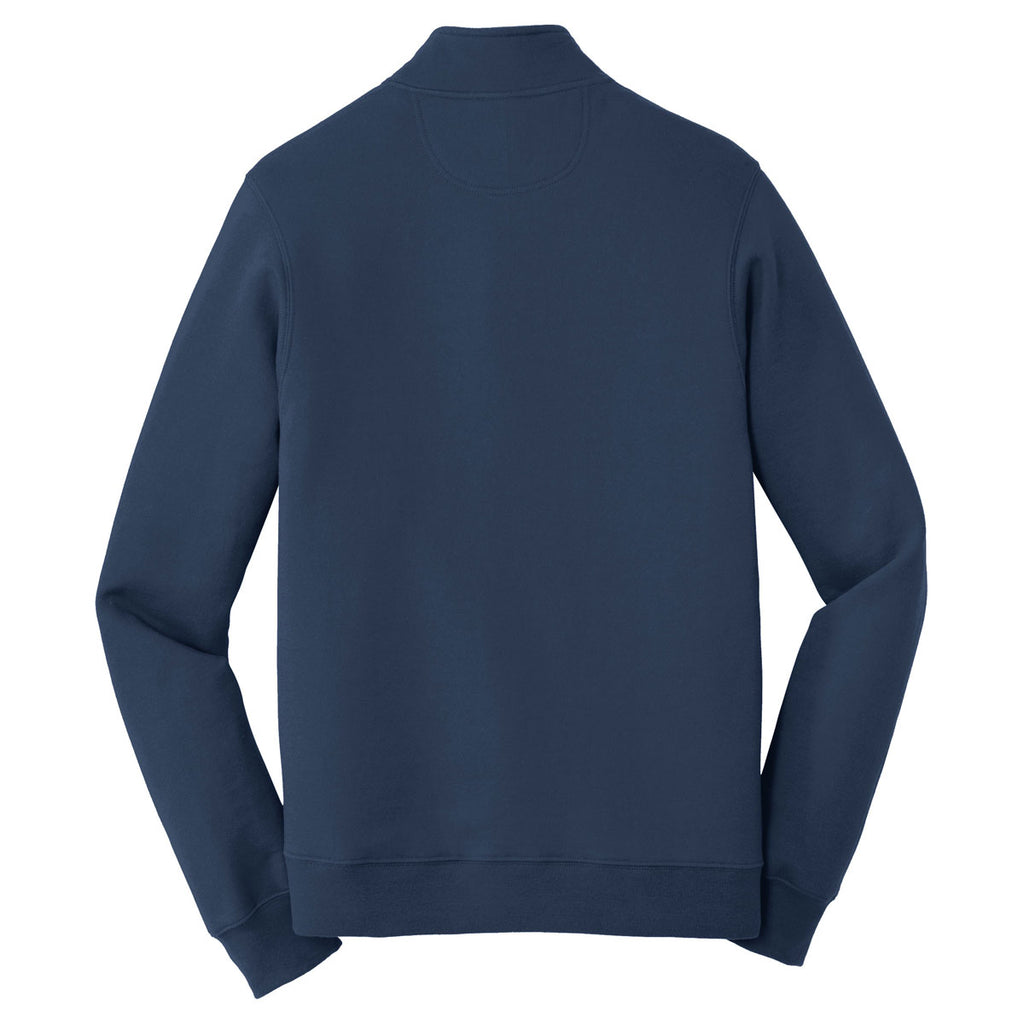 Port & Company Men's Team Navy Fan Favorite Fleece 1/4-Zip Pullover Sweatshirt