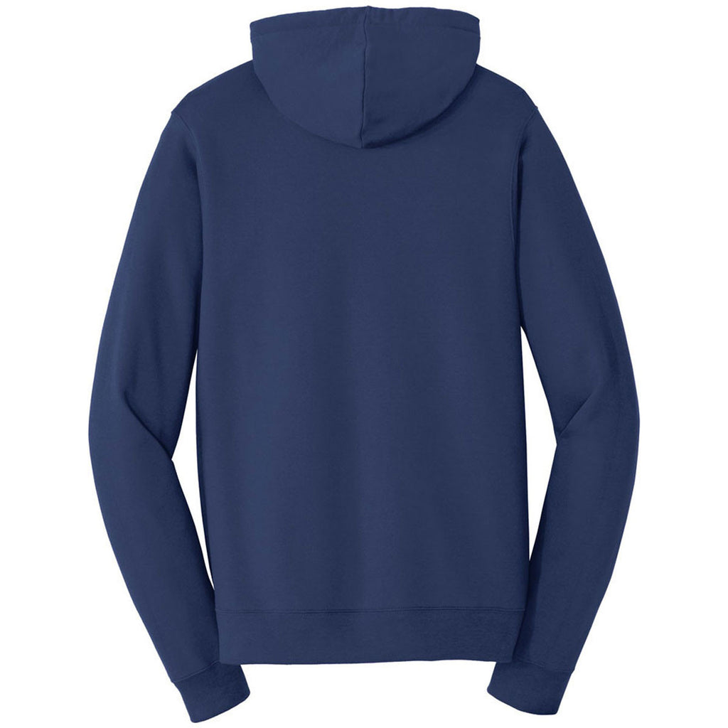 Port & Company Men's Team Navy Fan Favorite Fleece Full-Zip Hooded Sweatshirt