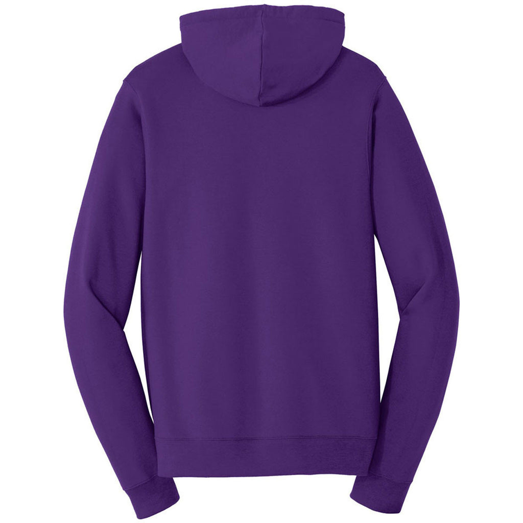 Port & Company Men's Team Purple Fan Favorite Fleece Full-Zip Hooded Sweatshirt