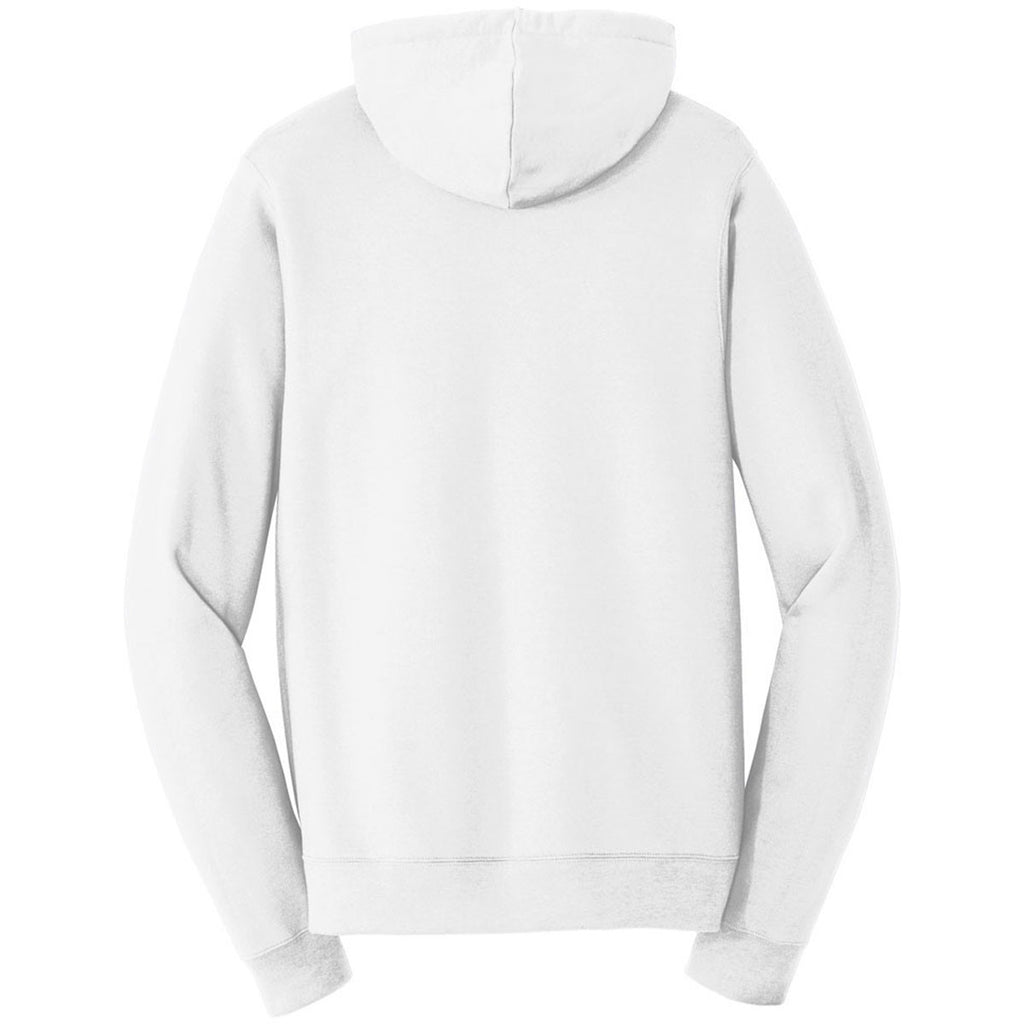 Port & Company Men's White Fan Favorite Fleece Full-Zip Hooded Sweatshirt