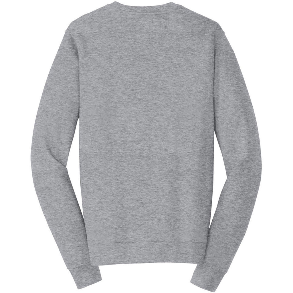 Port & Company Men's Athletic Heather Fan Favorite Fleece Crewneck Sweatshirt