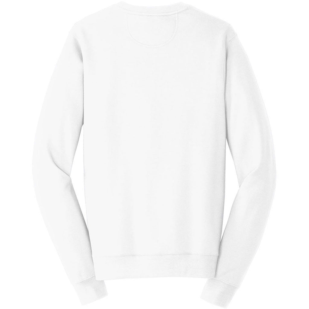 Port & Company Men's White Fan Favorite Fleece Crewneck Sweatshirt