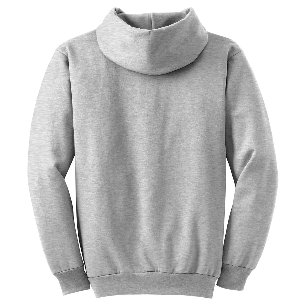 Port & Company Ash Grey Ultimate Hooded Sweatshirt