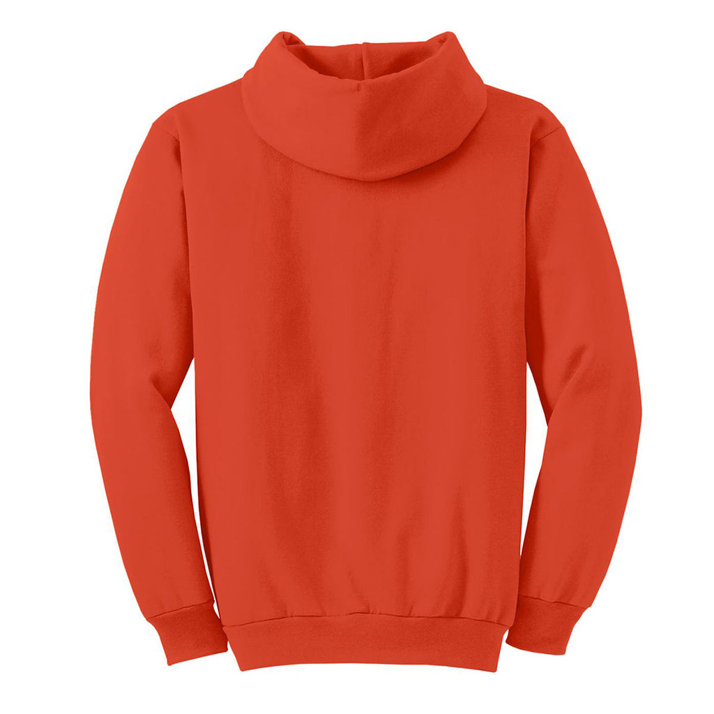 Port & Company Men's Orange Essential Fleece Pullover Hooded Sweatshirt