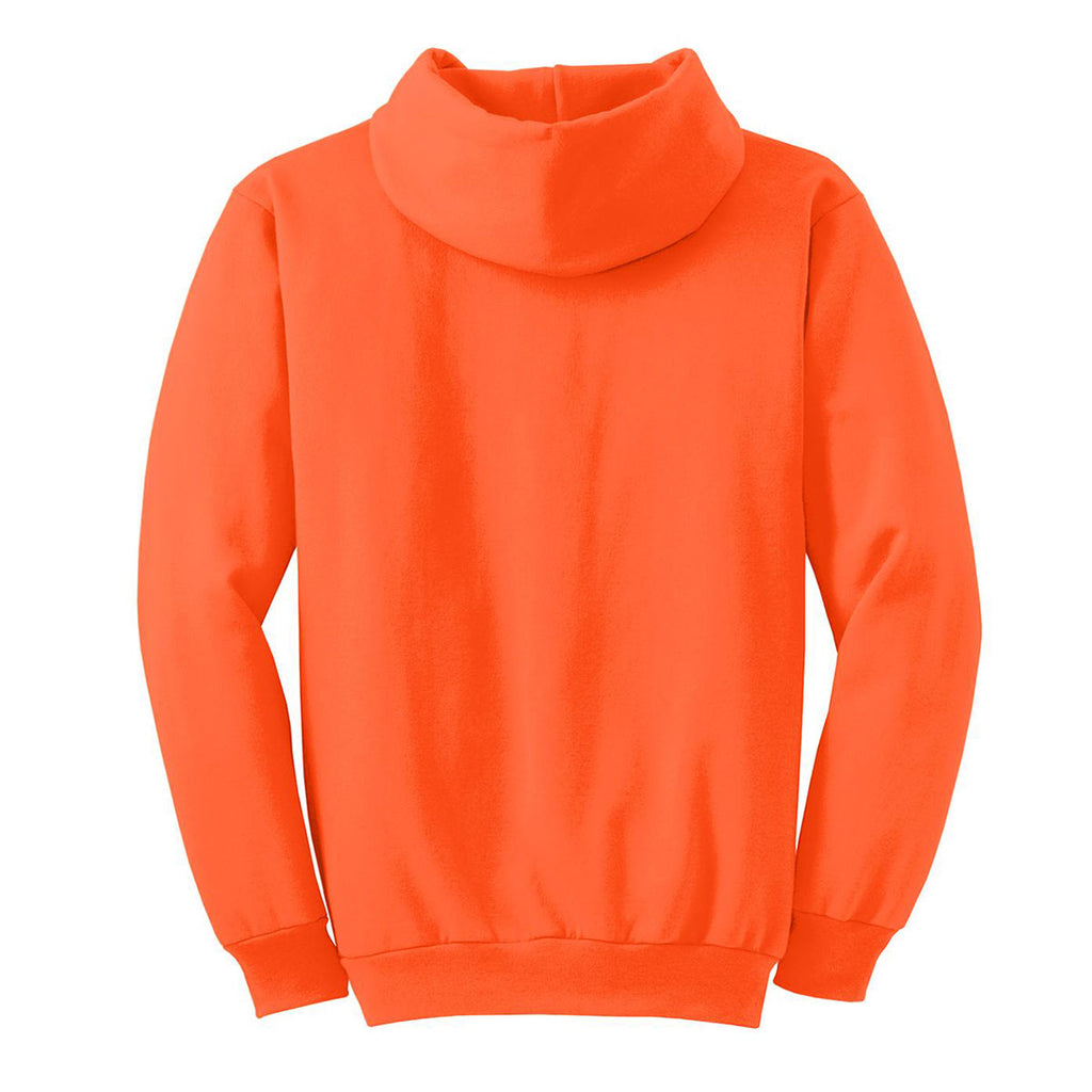 Port & Company Men's Safety Orange Essential Fleece Pullover Hooded Sweatshirt