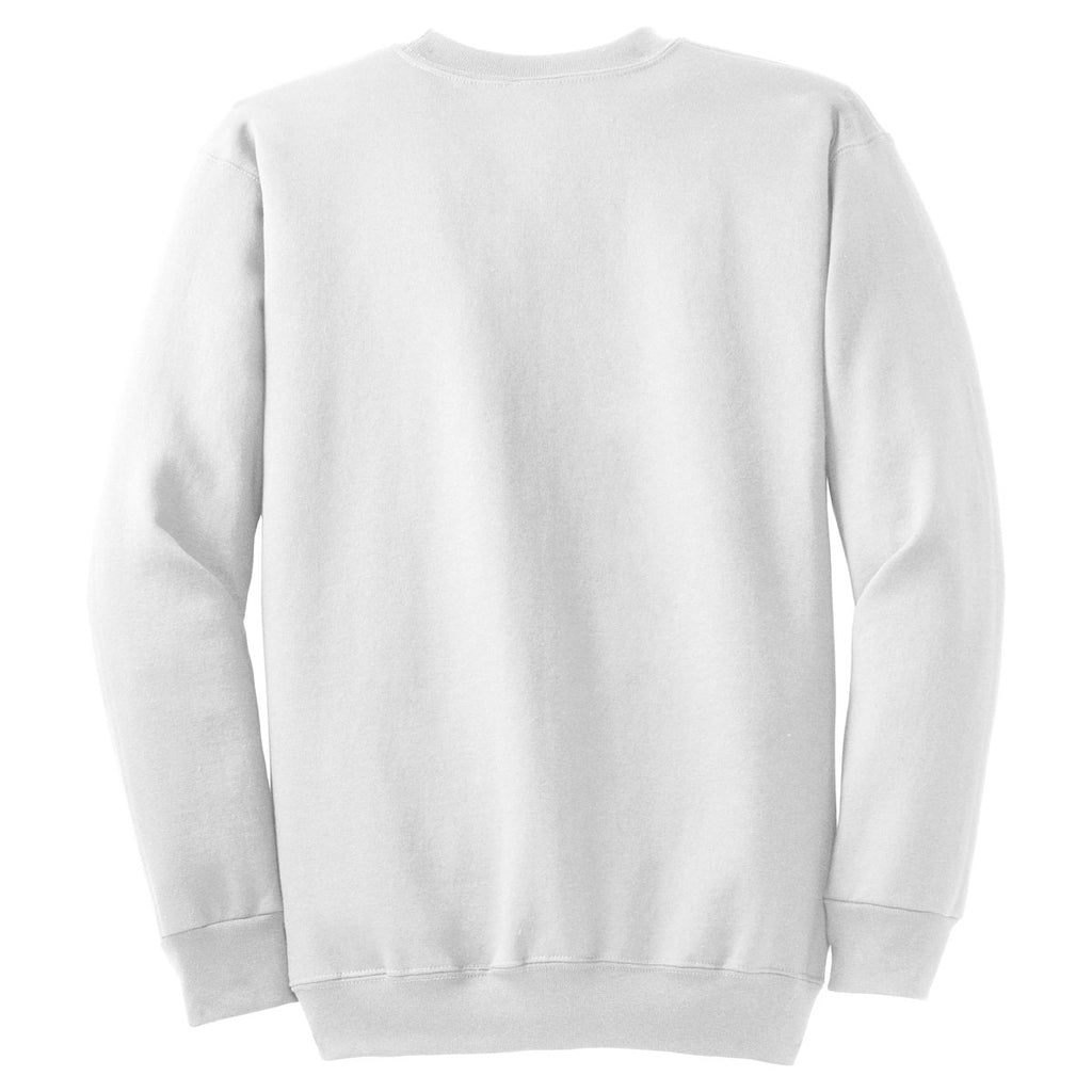 Port & Company White Ultimate Crewneck Sweatshirt