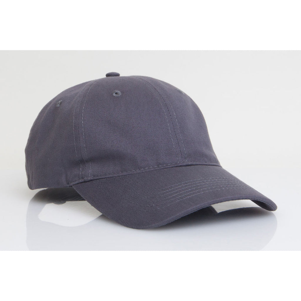 61c3757170c Pacific Headwear Graphite Unstructured Adjustable Washed Cotton Cap