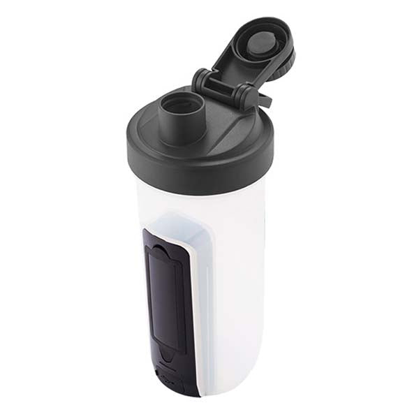 Primeline Black 20 oz. Shaker Fitness Bottle with Bluetooth Earbuds