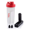 Primeline Red 20 oz. Shaker Fitness Bottle with Bluetooth Earbuds