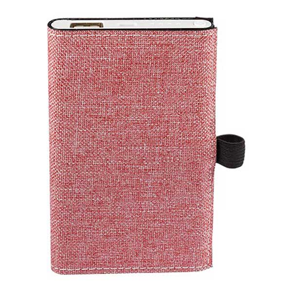 Strand Red Snow Canvas Notebook/Executive Charger Gift Set